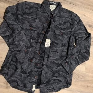 Lucky Brand Limited Edition Camo Snow Button Down